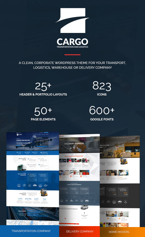 Cargo – Transport, Logistics & Warehouse Theme